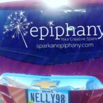 epiphany your creative spark vehicle tag