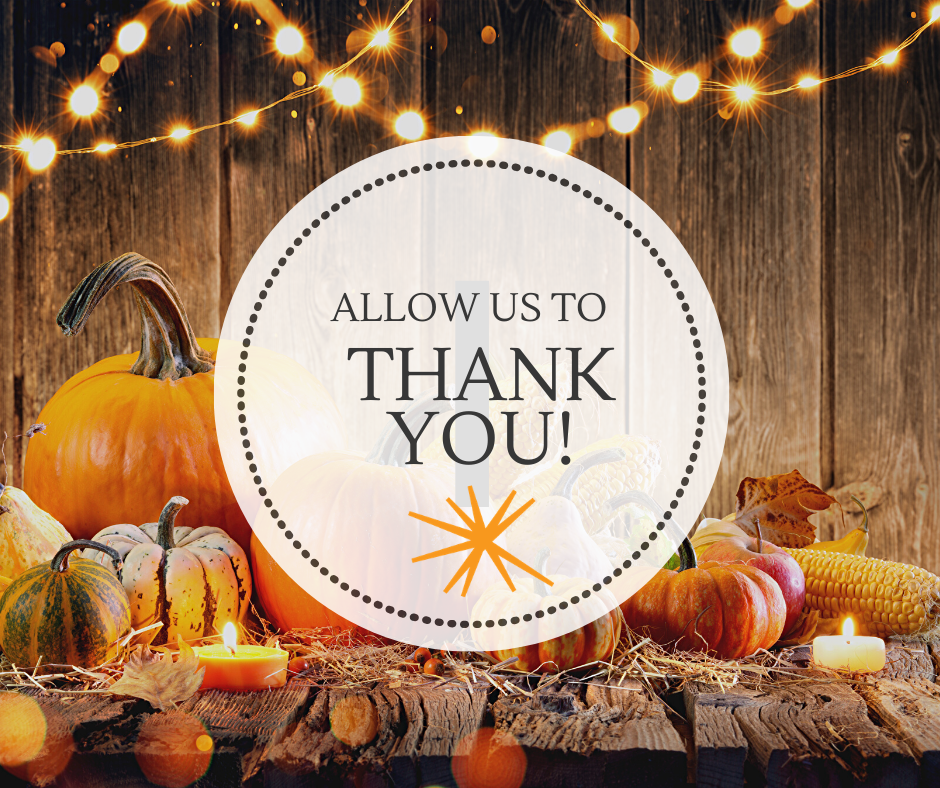 We are so sparking thankful for you!